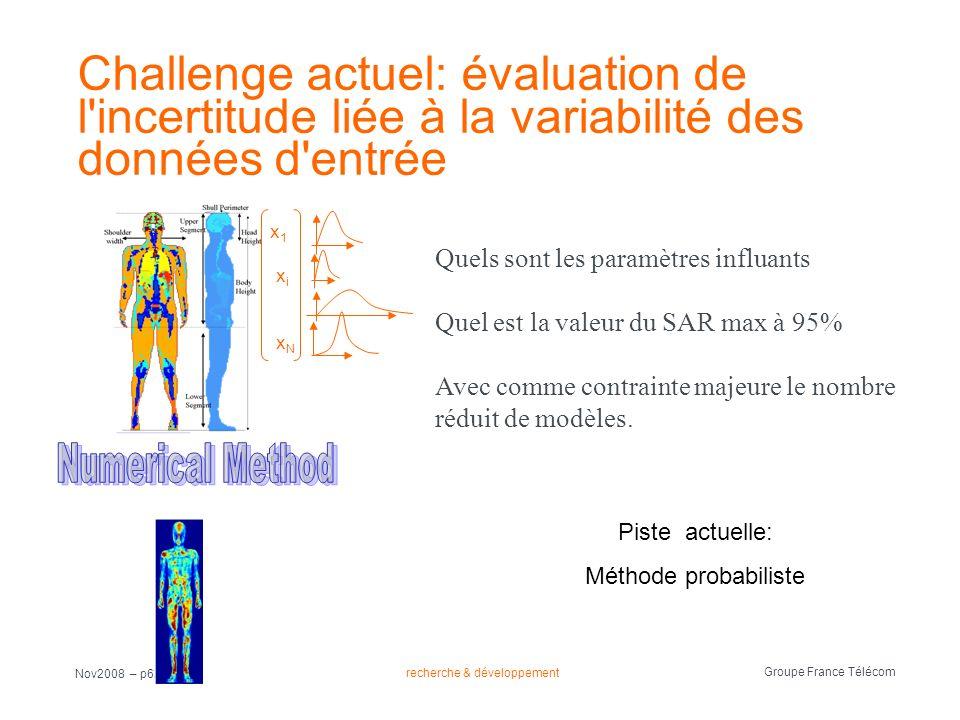 Challenge actuel: évaluation de l incertitude liée à la variabilité des données d entrée