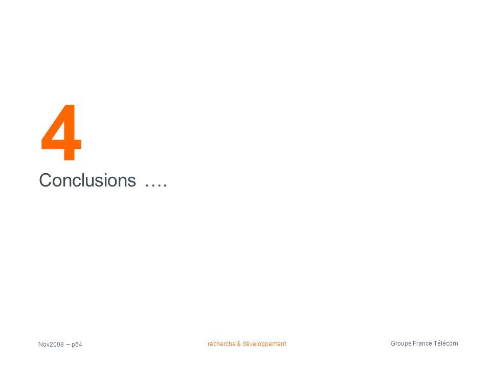 4 Conclusions …. Nov2008 – p64