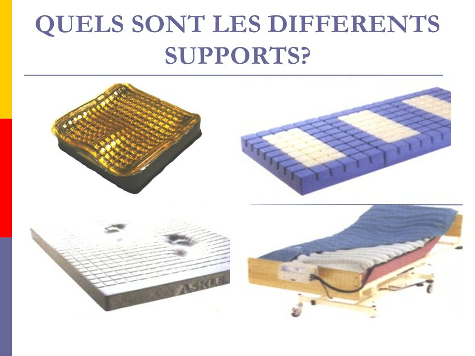 QUELS SONT LES DIFFERENTS SUPPORTS