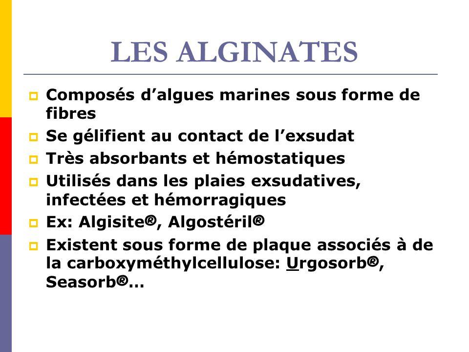 LES ALGINATES Composés d'algues marines sous forme de fibres