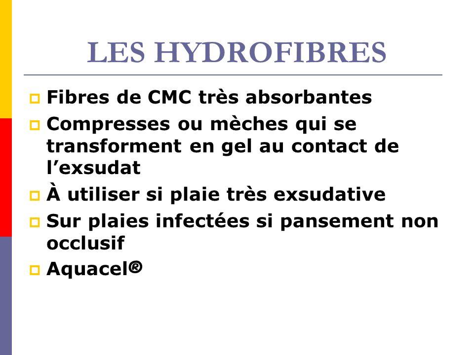 LES HYDROFIBRES Fibres de CMC très absorbantes