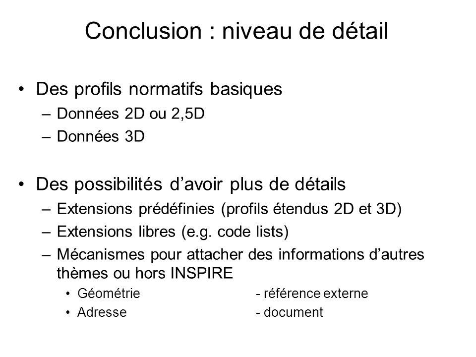 Conclusion : niveau de détail