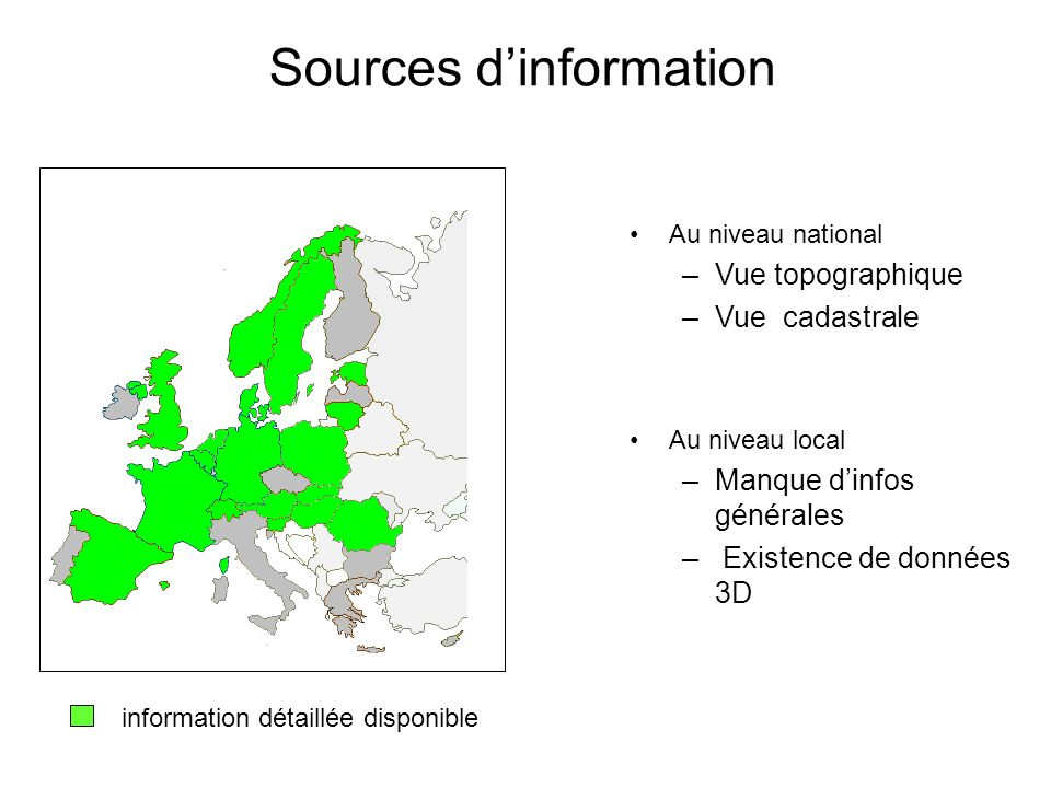 Sources d'information