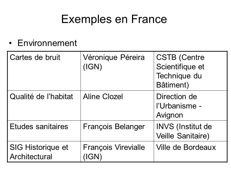 Exemples en France Environnement Cartes de bruit