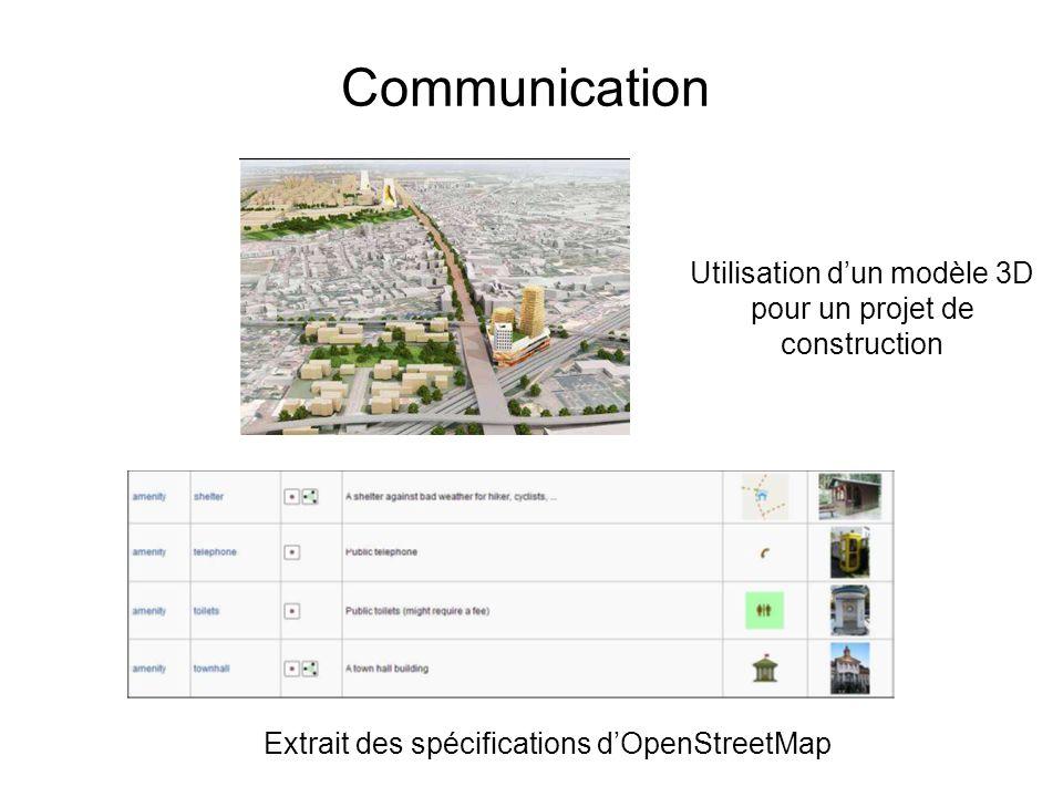 Communication Utilisation d'un modèle 3D pour un projet de construction.