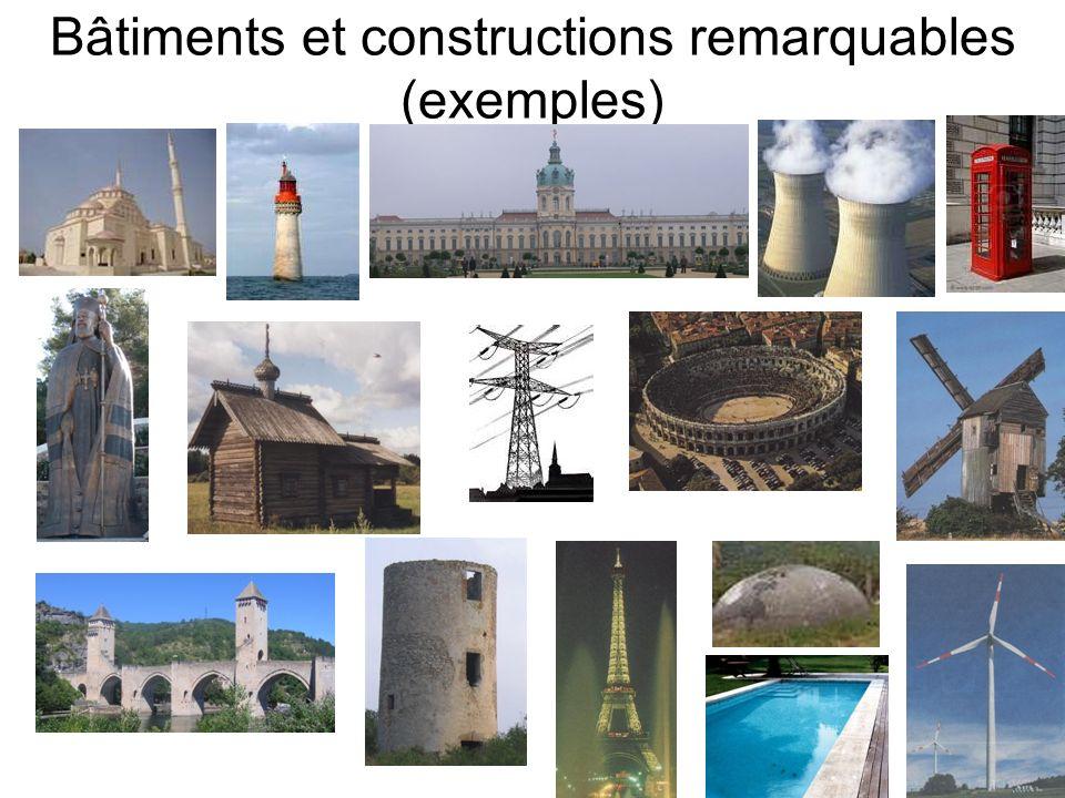 Bâtiments et constructions remarquables (exemples)