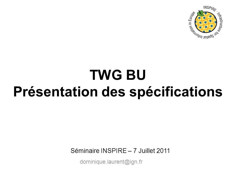 TWG BU Présentation des spécifications