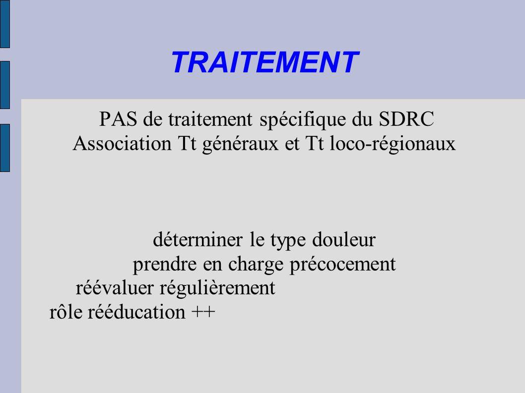 TRAITEMENT PAS de traitement spécifique du SDRC