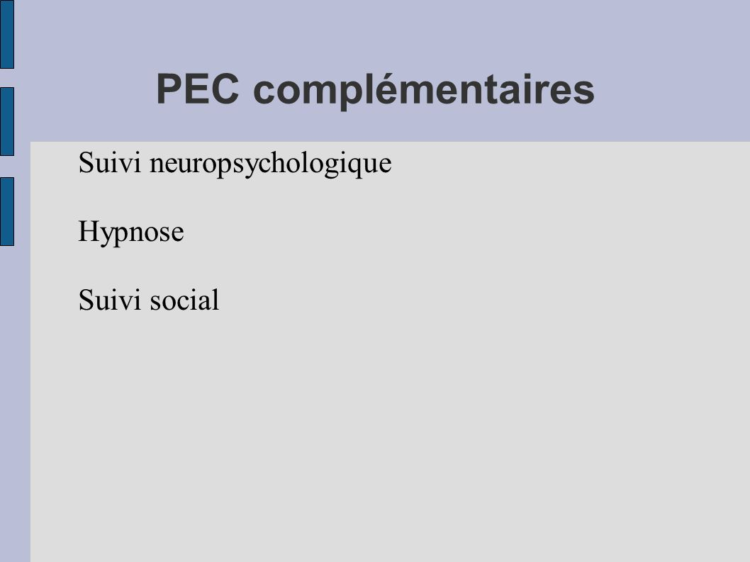 Suivi neuropsychologique Hypnose Suivi social