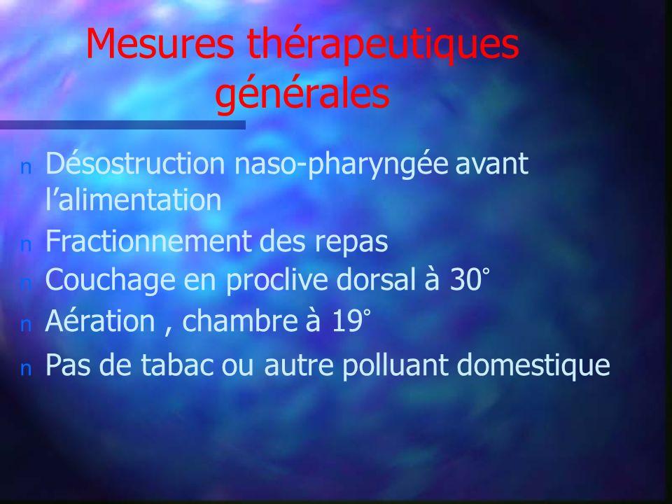 Mesures thérapeutiques générales