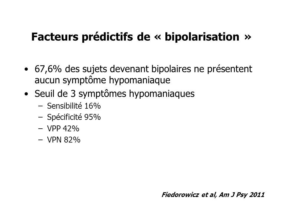Facteurs prédictifs de « bipolarisation »