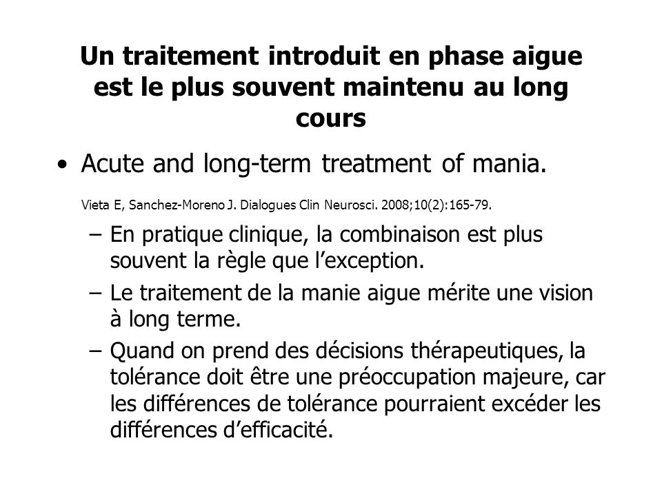 Acute and long-term treatment of mania.