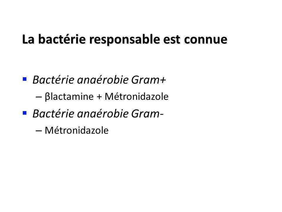 La bactérie responsable est connue