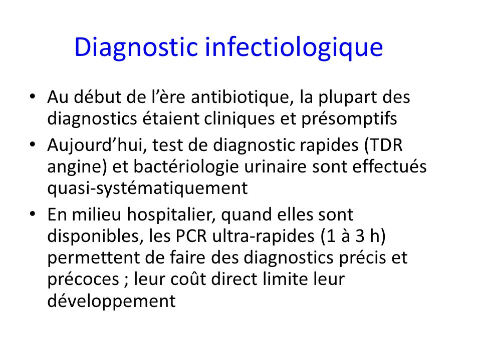 Diagnostic infectiologique