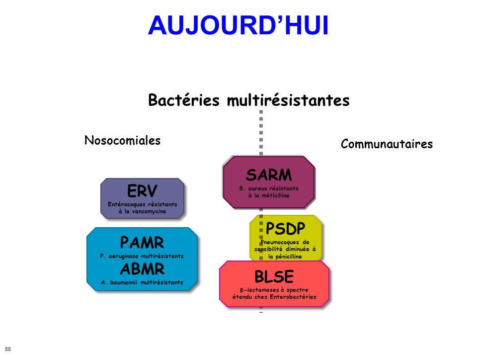 AUJOURD'HUI Bactéries multirésistantes SARM ERV PSDP