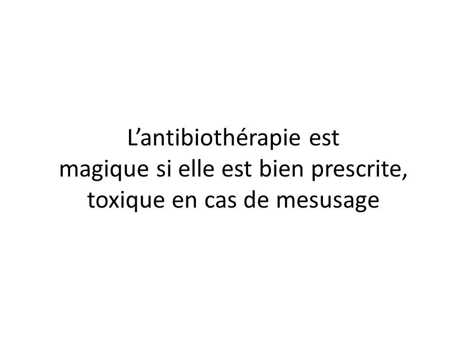 L'antibiothérapie est magique si elle est bien prescrite, toxique en cas de mesusage
