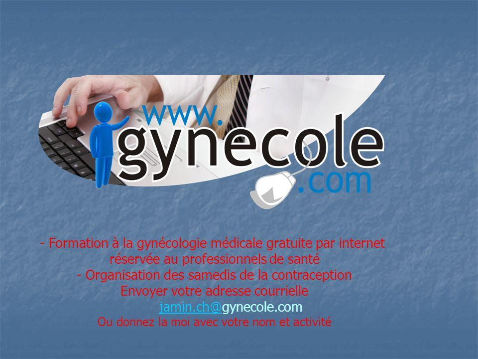 - Formation à la gynécologie médicale gratuite par internet