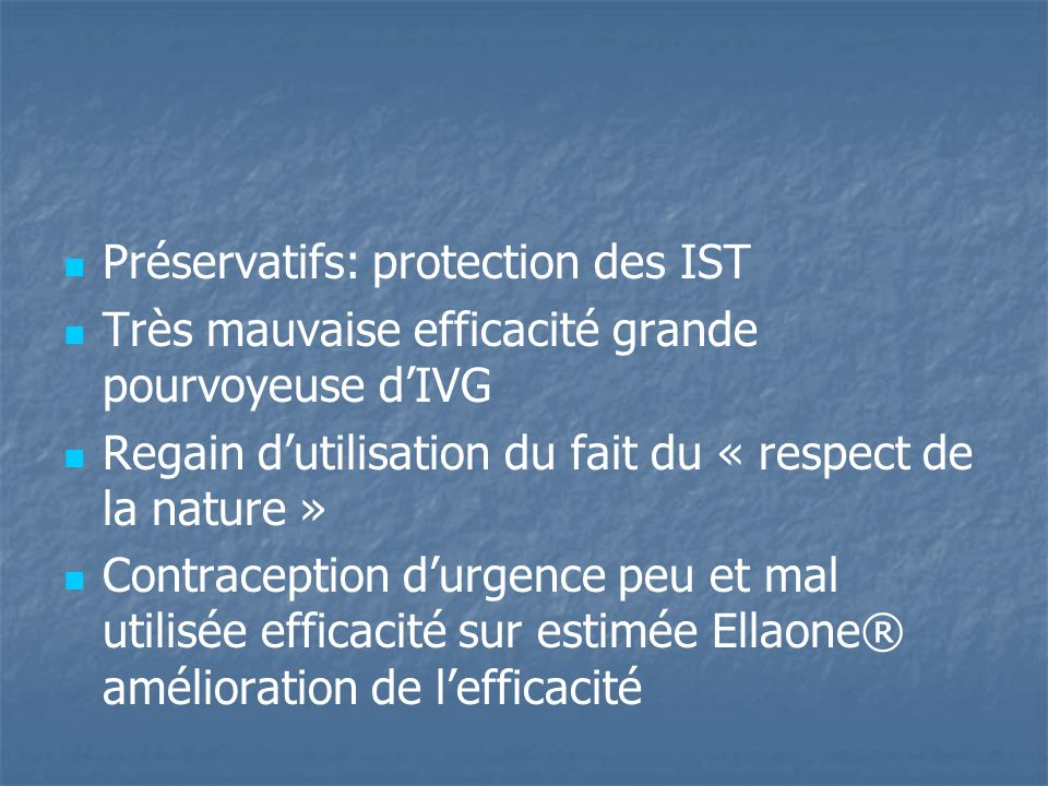 Préservatifs: protection des IST