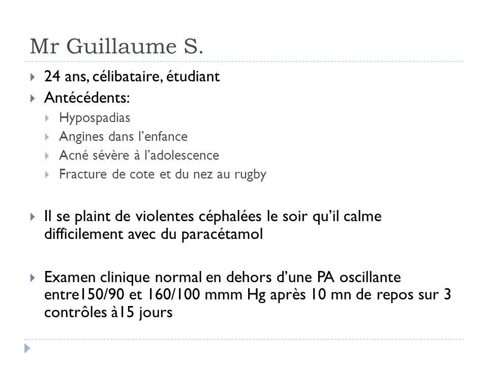 Mr Guillaume S. 24 ans, célibataire, étudiant Antécédents: