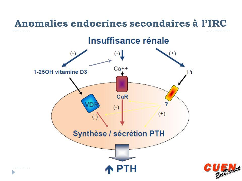 Anomalies endocrines secondaires à l'IRC