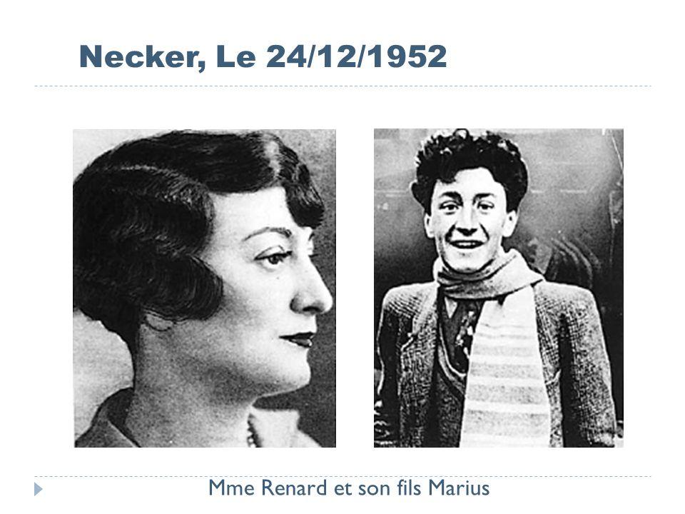 Mme Renard et son fils Marius