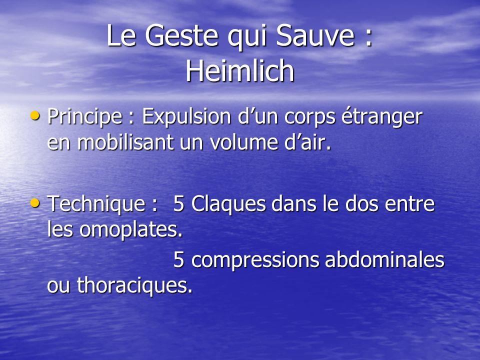 Le Geste qui Sauve : Heimlich