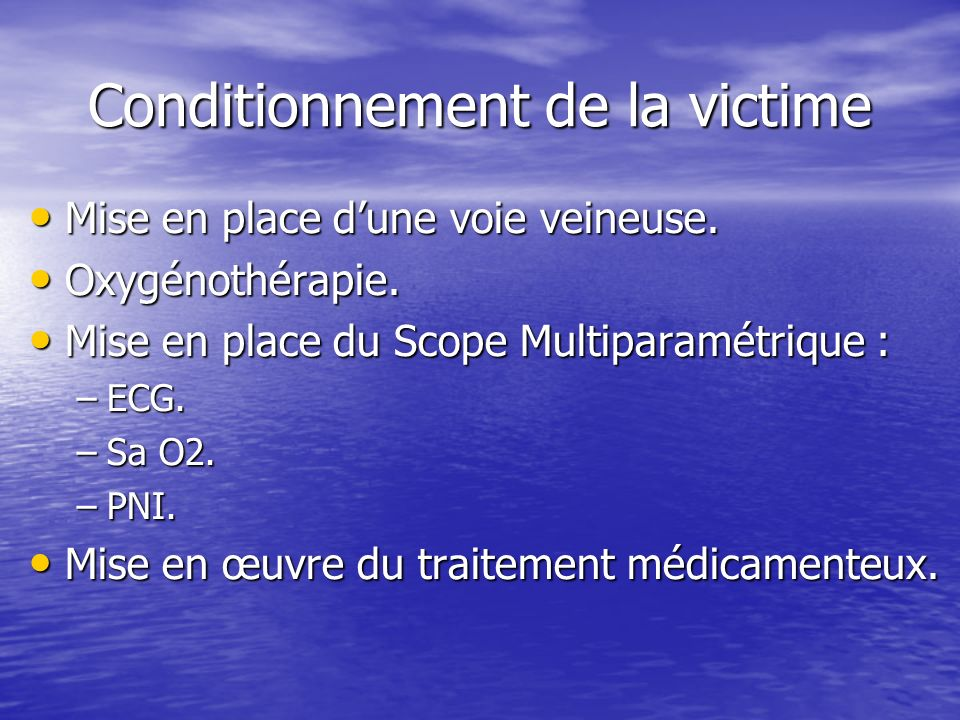 Conditionnement de la victime