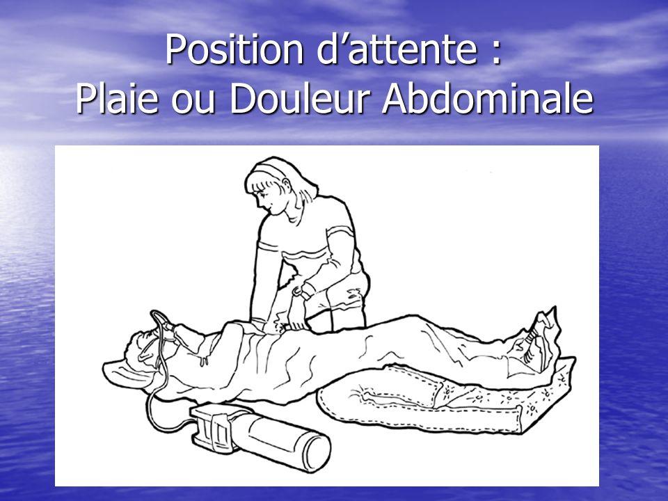 Position d'attente : Plaie ou Douleur Abdominale