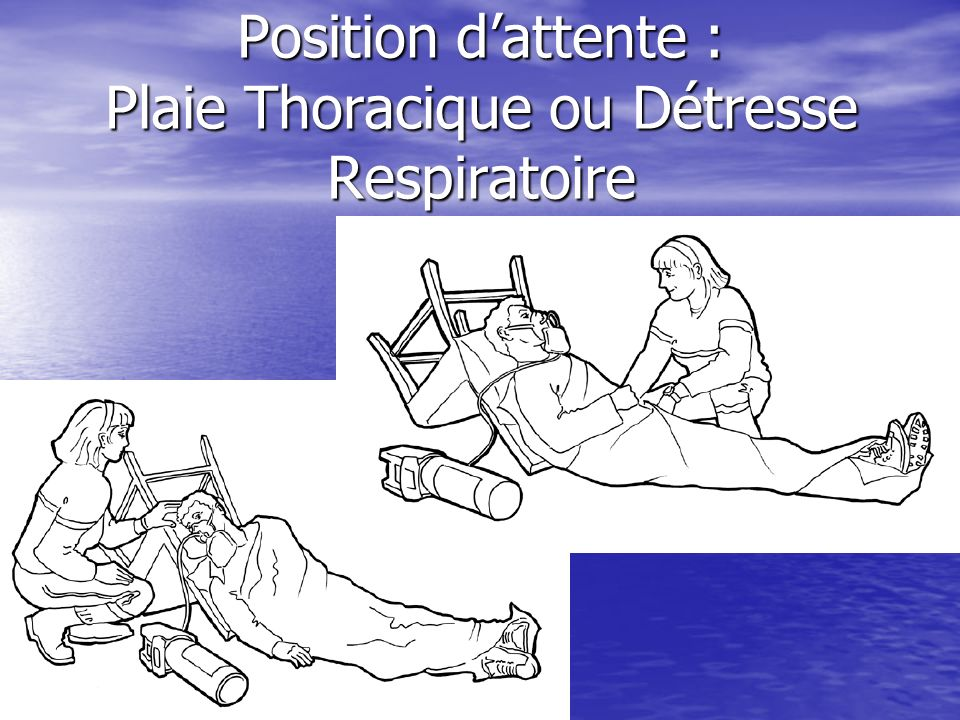 Position d'attente : Plaie Thoracique ou Détresse Respiratoire