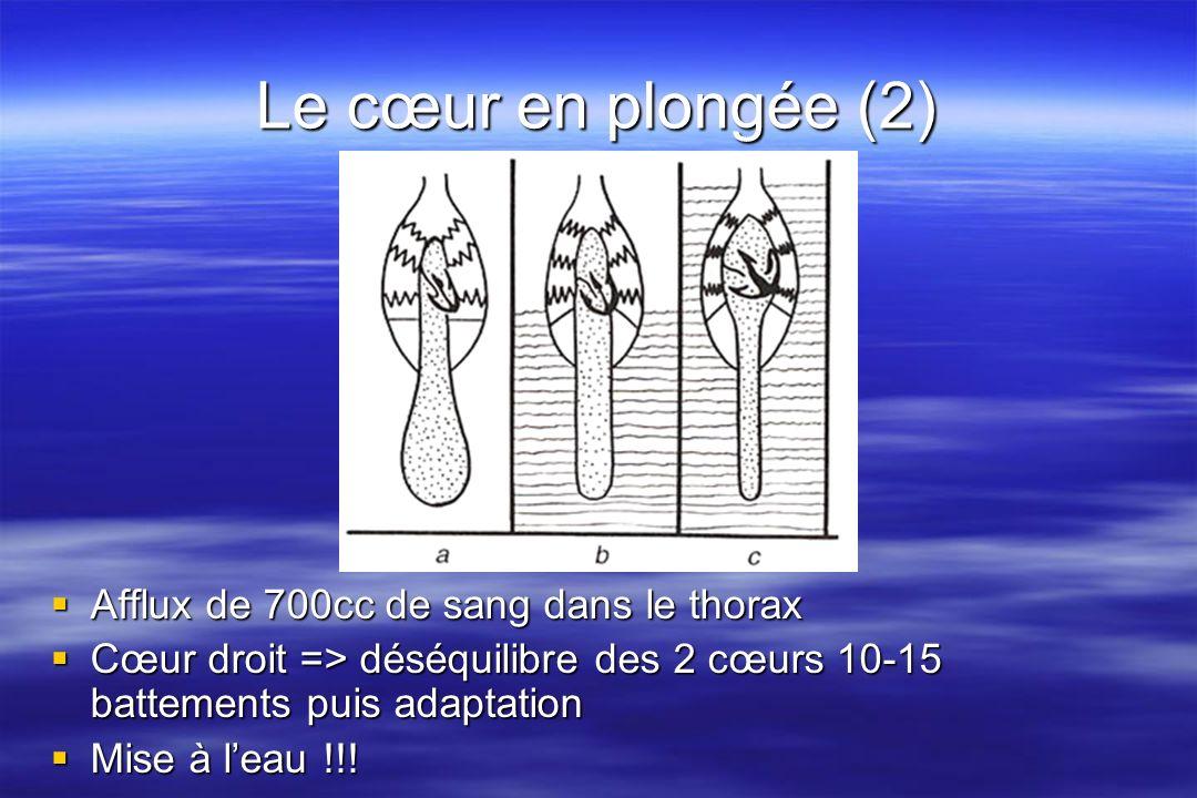 Le cœur en plongée (2) Afflux de 700cc de sang dans le thorax