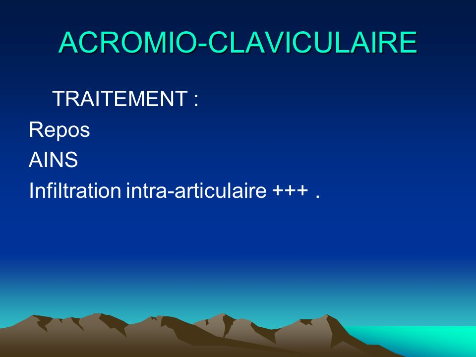 ACROMIO-CLAVICULAIRE