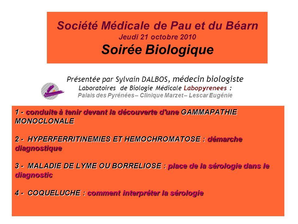 Soirée Biologique Société Médicale de Pau et du Béarn