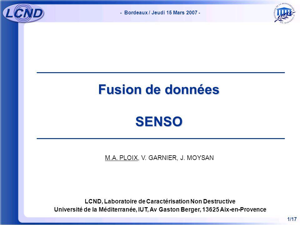 Fusion de données SENSO