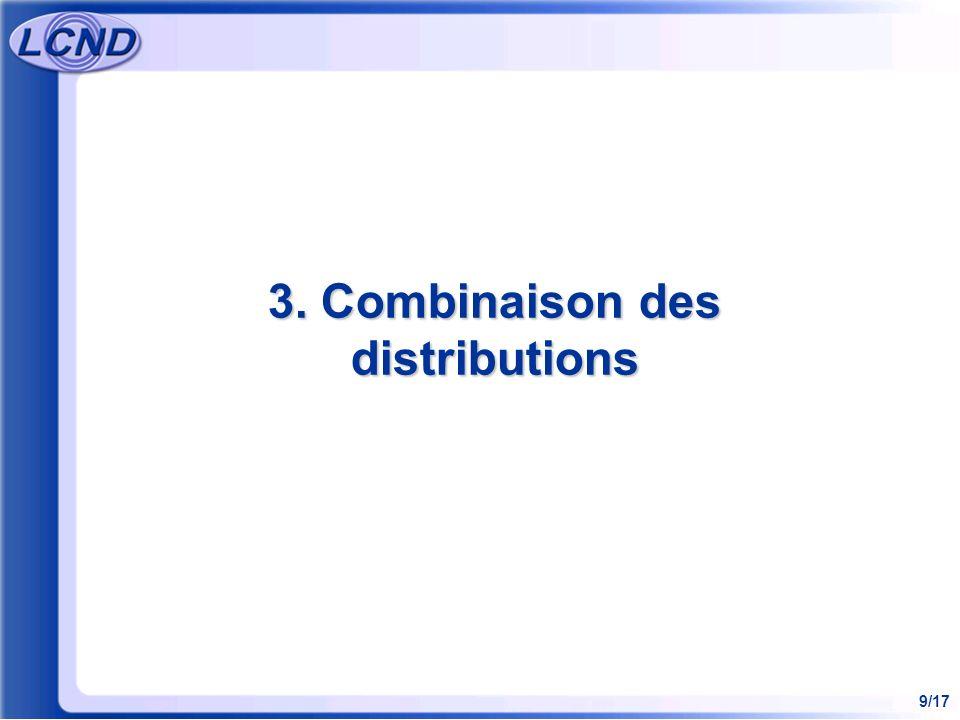 3. Combinaison des distributions