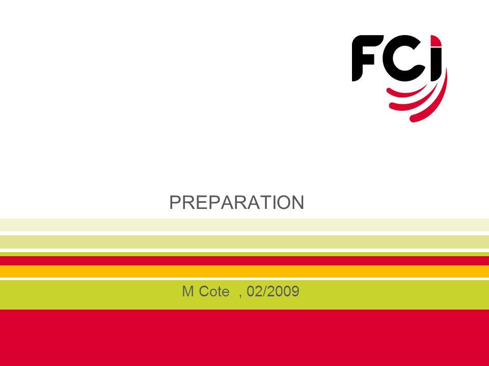PREPARATION M Cote , 02/2009
