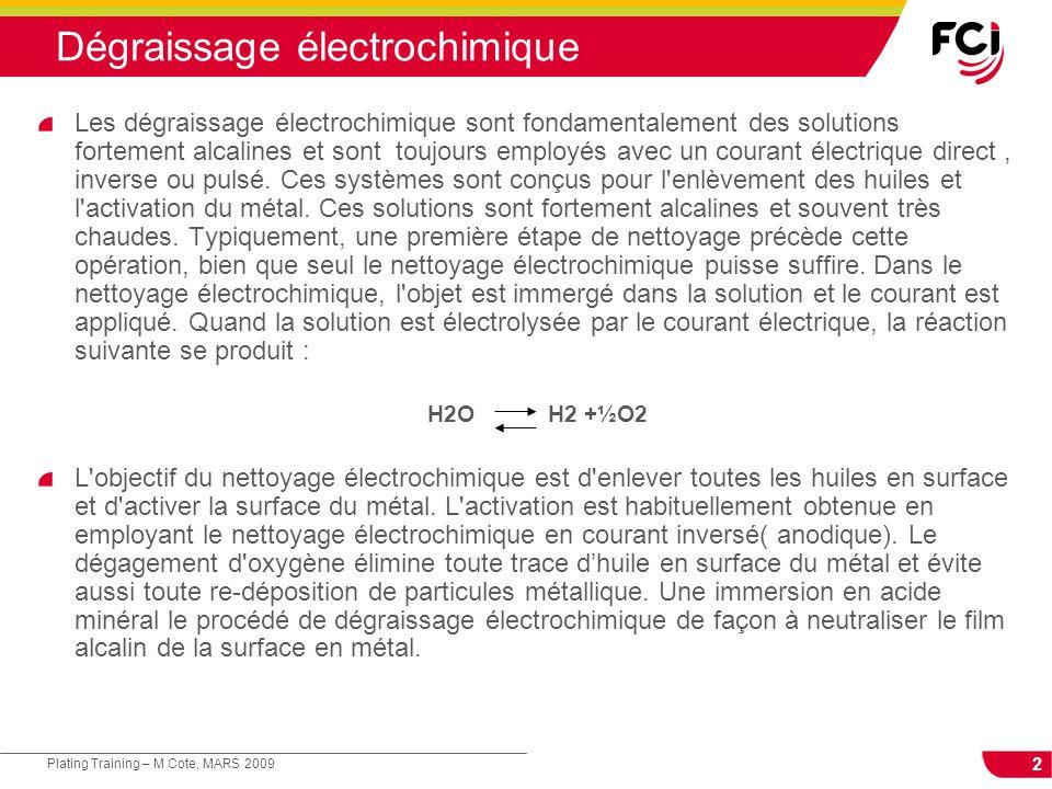 Dégraissage électrochimique