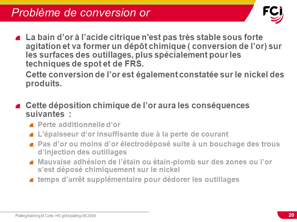 Problème de conversion or