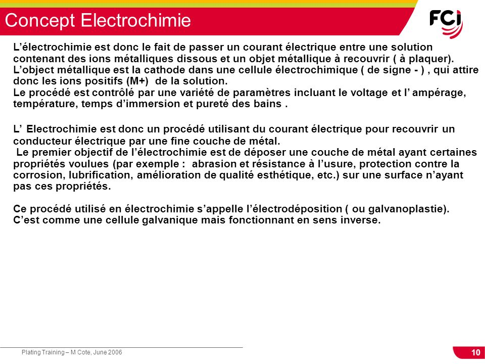 Concept Electrochimie