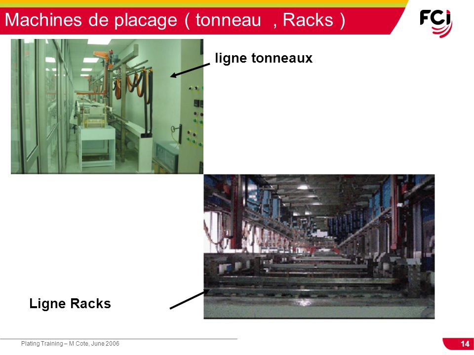 Machines de placage ( tonneau , Racks )