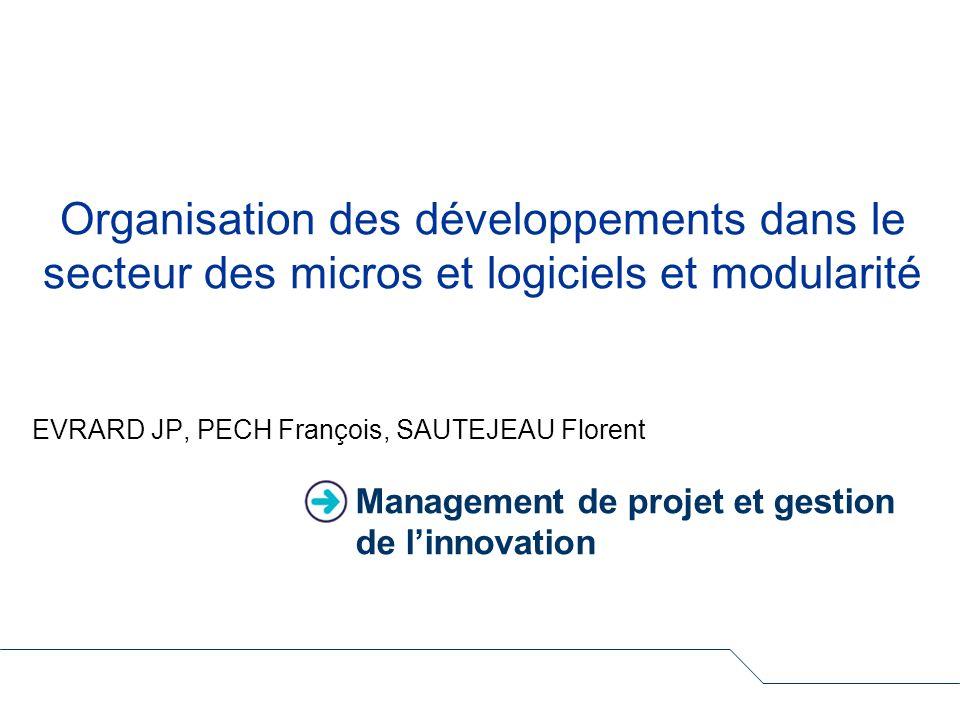 Management de projet et gestion de l'innovation