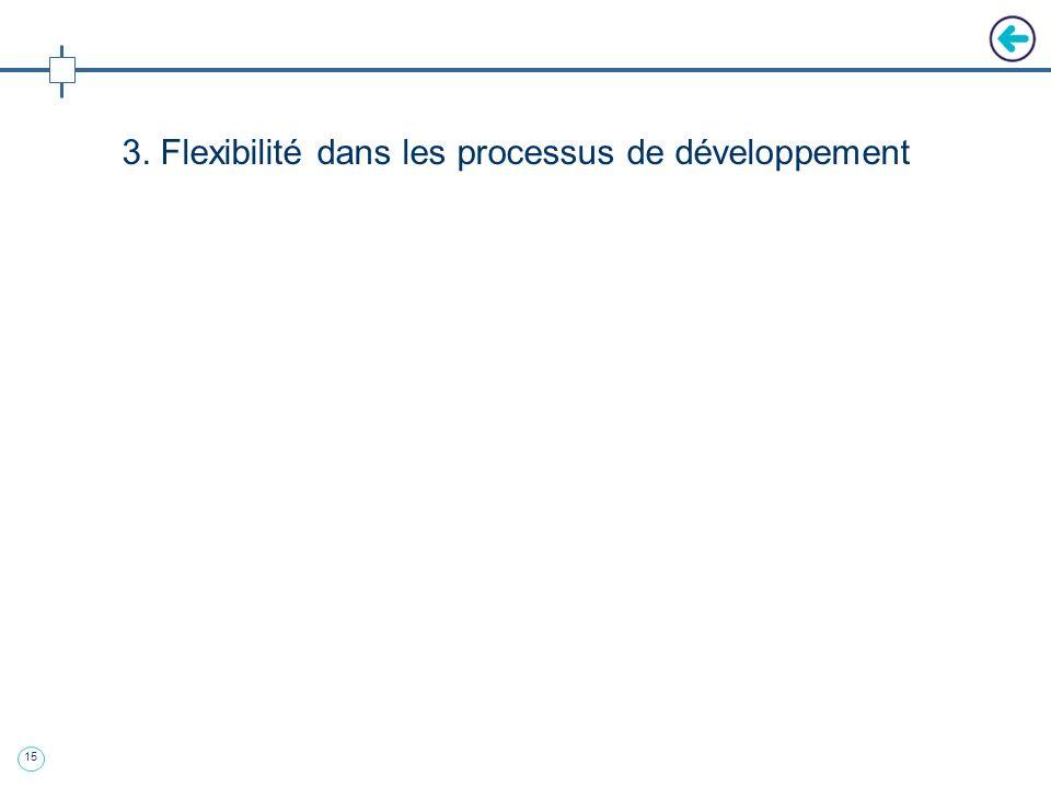 3. Flexibilité dans les processus de développement
