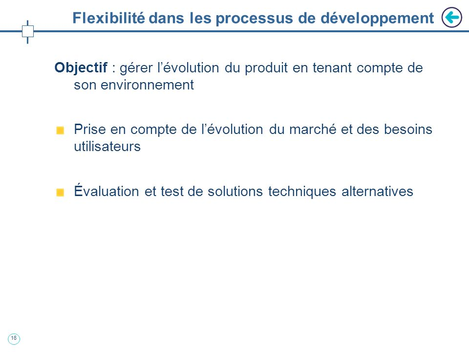 Flexibilité dans les processus de développement