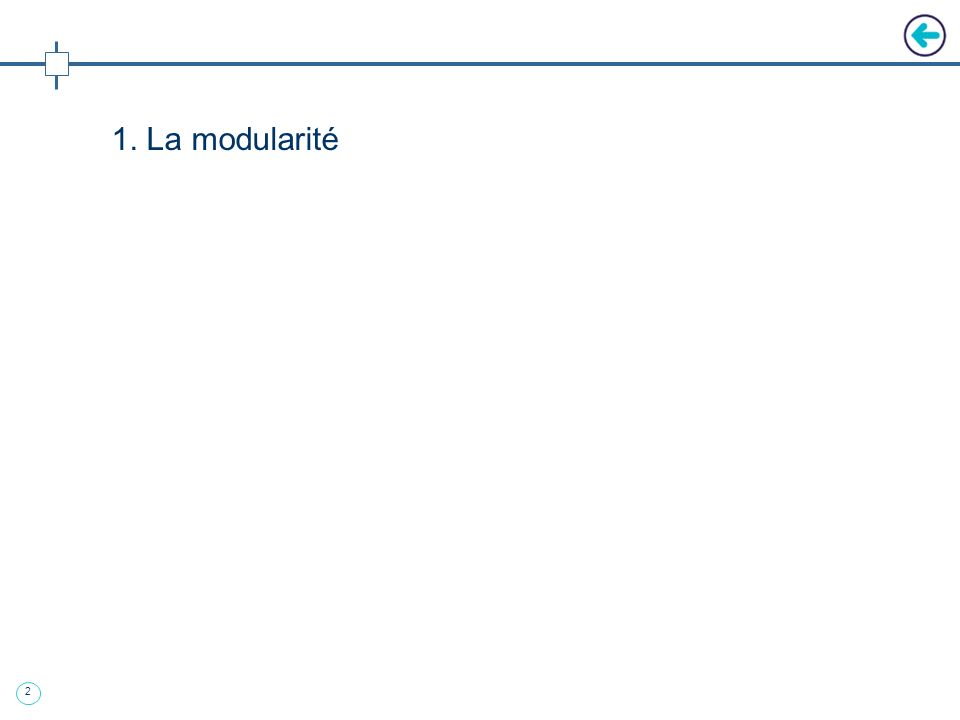 1. La modularité