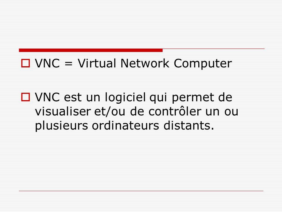 VNC = Virtual Network Computer