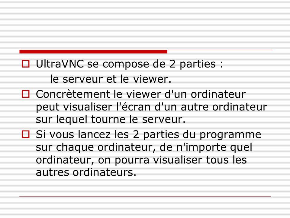 UltraVNC se compose de 2 parties :