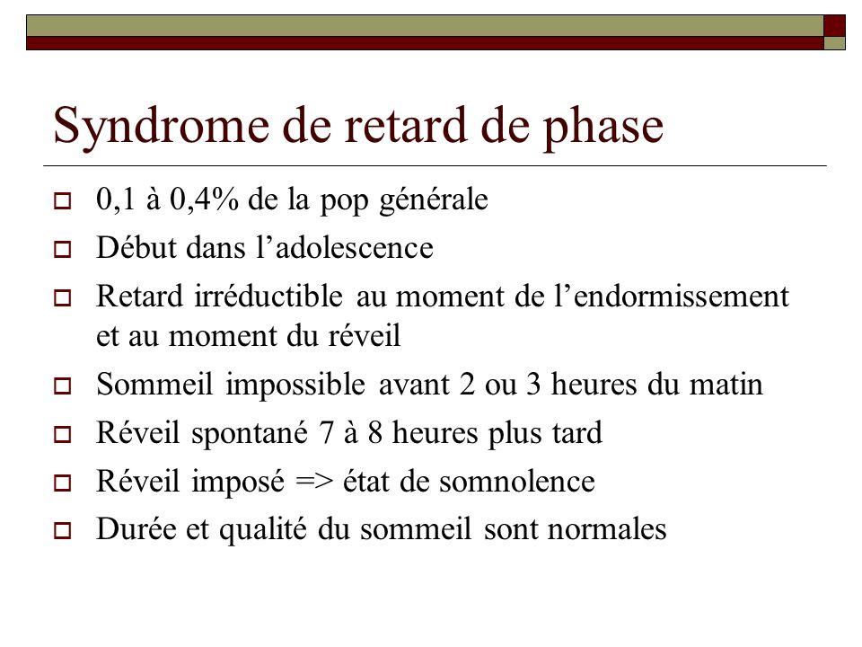Syndrome de retard de phase