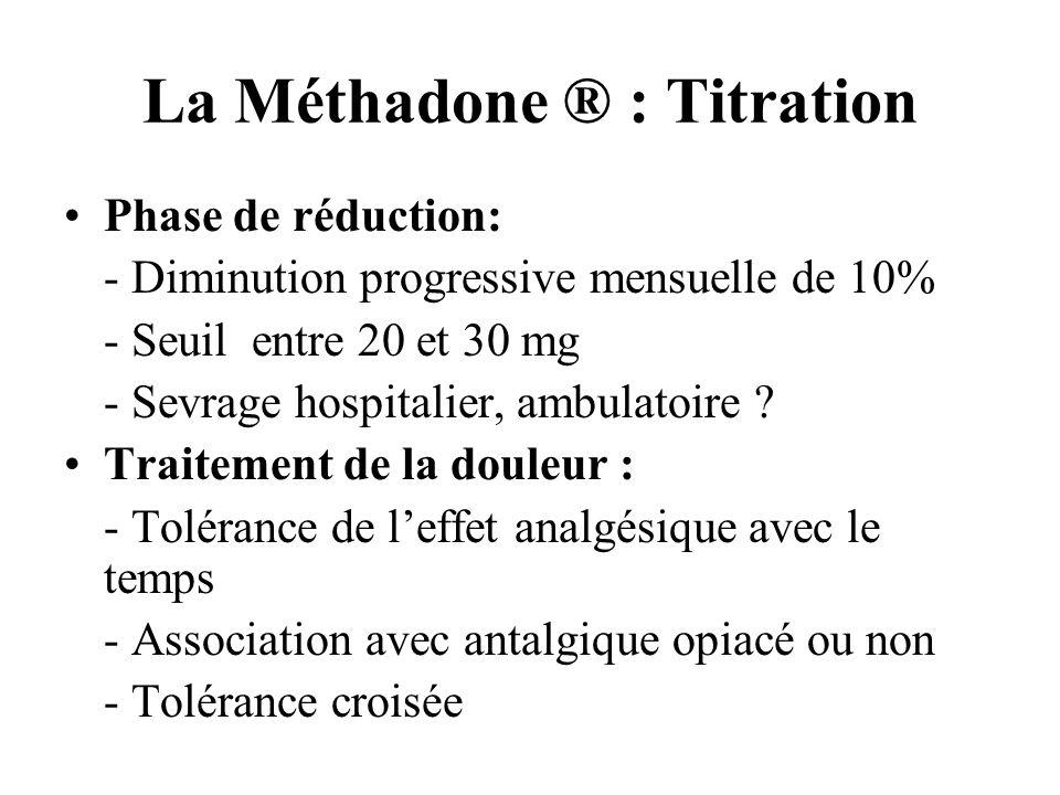 La Méthadone ® : Titration