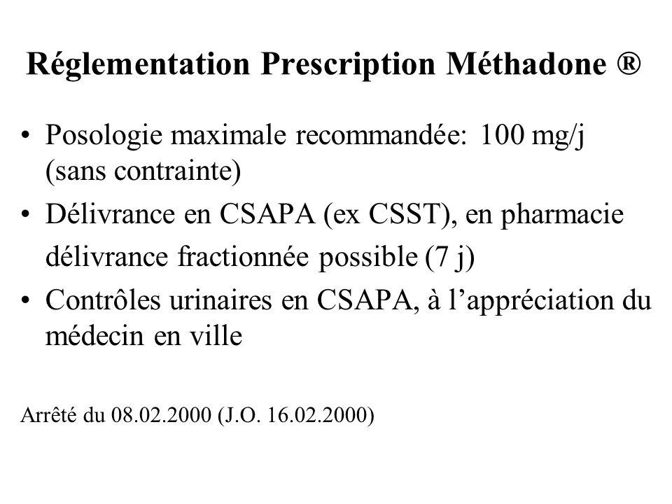 Réglementation Prescription Méthadone ®