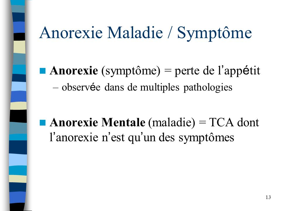 Anorexie Maladie / Symptôme