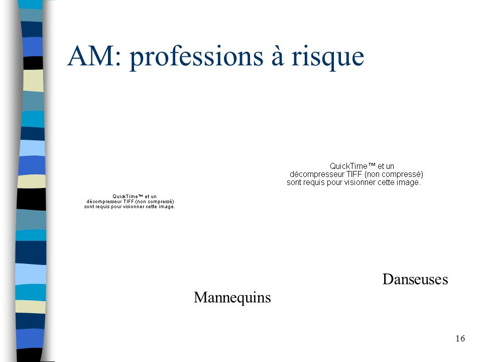 AM: professions à risque